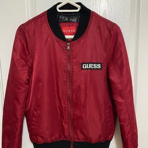 Red Guess Bomber Women's Size Small